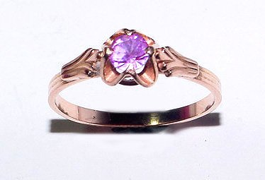 Russian 583 (approximately 14K) Rose Gold Vintage Ring - Size 9.5