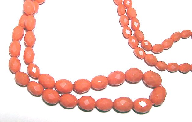 Antique Faceted Celluloid Bead Necklace