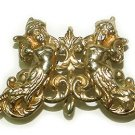 Gilt Cherubs Art Nouveau Antique Watch Pin