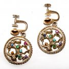Gemstones and Gold Filled Tree of Life Earrings - Free USA Shipping
