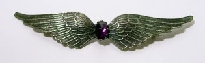 Large Antique Art Nouveau Spread Wings Brooch
