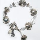 Signed Tres Jolie Bracelet - Bali Sterling and Swarovski Crystal Beads