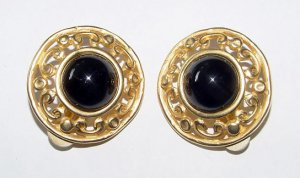 Large Vintage Erwin Pearl Signed Clip Earrings - Free USA Shipping