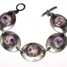 1950s Modernist Artisan Art Glass Bracelet