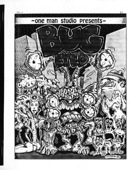 "Bug-Eyed #1 comic with Ed ""Big Daddy"" Roth, Rat Fink, Steve Willis, 1987"
