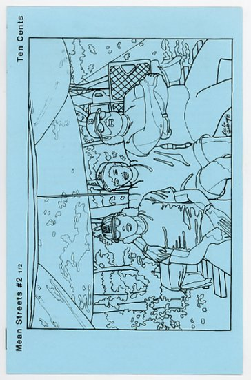 Mean Streets #2 1/2 small press comics zine 1989 Leela Galaxy cover