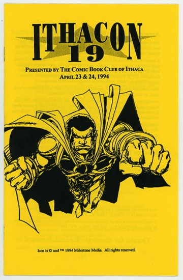 Ithacon 19 comic book con program, Mark D. Bright, Icon