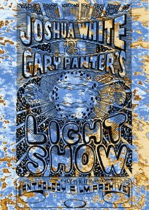 Gary Panter and Joshua White Light Show card, Pee Wee Herman