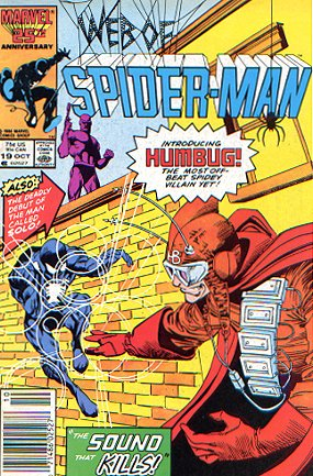 Web of Spider-Man #19 Intro Humbug & Solo, VF+ 8.5