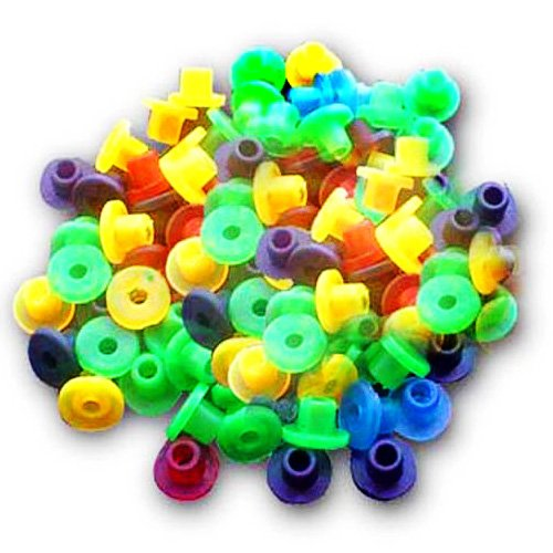 100 pcs Colored Grommets for Tattoo Machines Guns Needles Tips