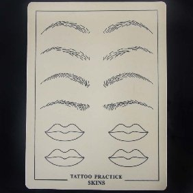 3 pcs of 15X20cm Tattoo makeup Practice Skin for Needles with black picture