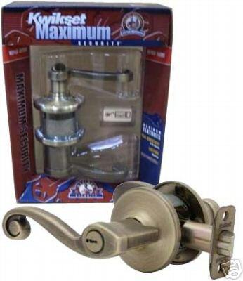 Best Price - New Kwikset 405LL Lido Keyed Entry Lockset - Antique Brass - Right Hand