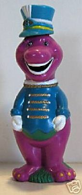 Vintage 1993 Barney the Purple Dinosaur Bubble Blower