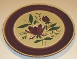 "Stangl Magnolia Round Platter - 12 1/4"""