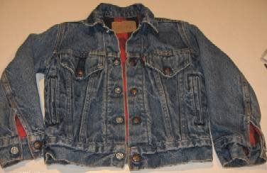 Vintage Levis Strauss Jacket Flannel Lined - Child Sz 8