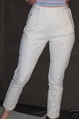 Moda Int'l White Twill Casual Pants - Size 10