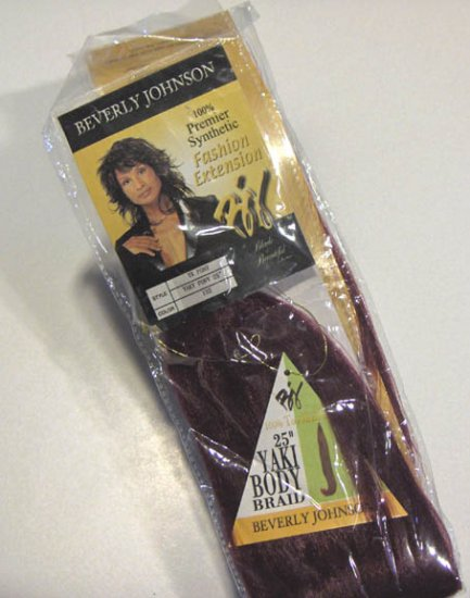 "Beverly Johnson 25"" Yaki Body Braid - Yaki Pony 100% Synthetic"