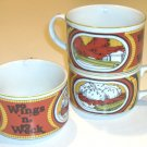 Vintage 1984 Buffalo Wings 'n' Weck Mugs - 3