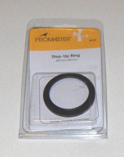 Brand New - Promaster Step-Up Ring 49mm-58mm