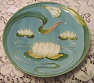 Zell Baden Majolica Water Lily Plate