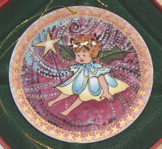 Pat Buckley Moss Porcelain Ornament 1992 - 1st Angel of the Angel Trilogy  A