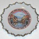 "Vintage Hoover Dam Souvenir Plate - 5"" Sunburst Design Japan"