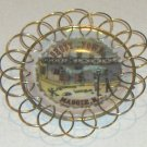 Vintage MAGGIE VALLEY NC GHOST TOWN Miniature Souvenir Plate with stand