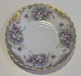 Royal Sealy Japan Saucer - Rich Violets and Gold