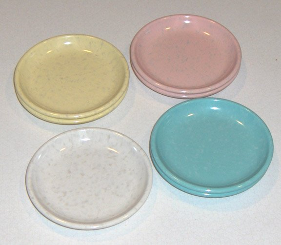 Retro Imperial Ware Speckled Melamine Melmac Coasters - 7