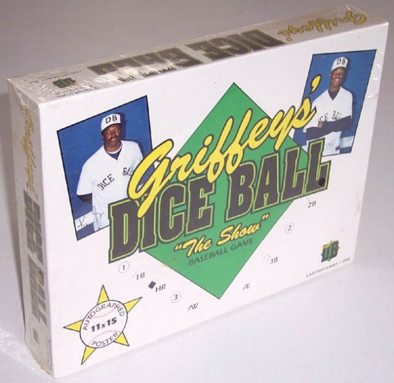 "1990 Griffeys' Dice Ball ""The Show"" Baseball Game MIB"
