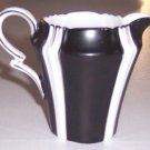 ROYAL ALBERT CHINA #9378 BLACK & WHITE STRIPES Creamer