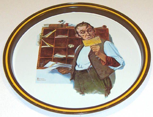 VINTAGE NORMAN ROCKWELL TRAY ~ Limited Ed. 1976 - Country Postman
