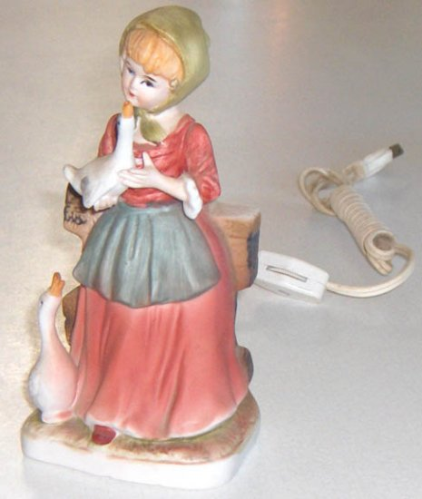 I. W. Rice Irice Girl with Geese Nite Lite & Perfume Warmer Combo