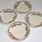 Syracuse China Old Ivory Indian Tree (Orange) Saucers (no cups) - Set of 4