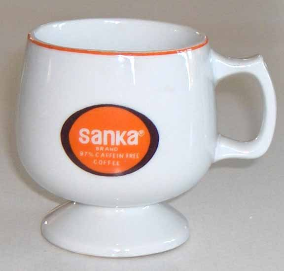Vintage Sanka Coffee Mugs - MIJ - Set of 3