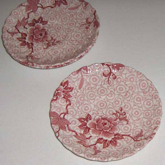 Lotus Johnson Brothers Saucers - Set of 3 (no cups)
