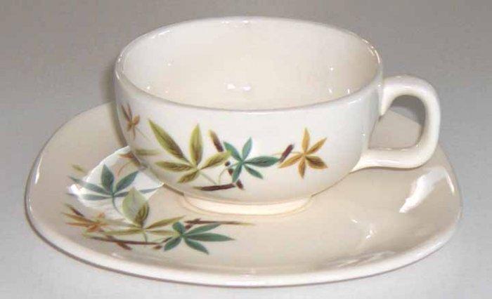 Salem China Eames Era Flair Woodhue Cup and Saucer
