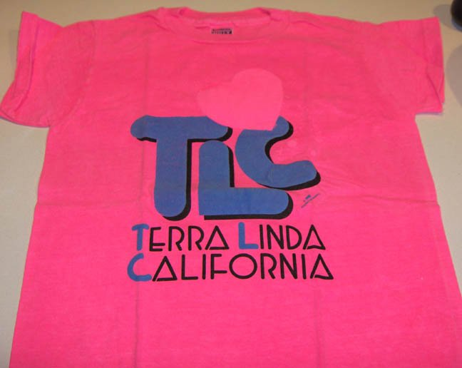 Terra Linda California 100% Cotton T-Shirt - Bright Fluorescent Colors
