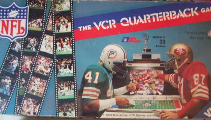 Vintage NFL- The VCR Quarterback Game - 1986 Football Board Game