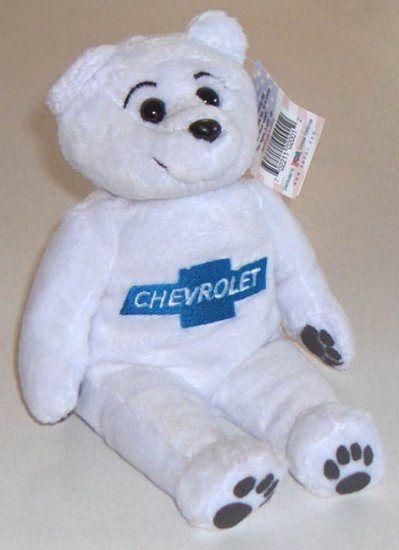 "Chevrolet 9"" beanbag plush bear by Kabor 2002 with Original Tag"
