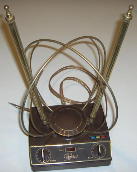 Vintage Rembrandt Television Antenna - dual controls.