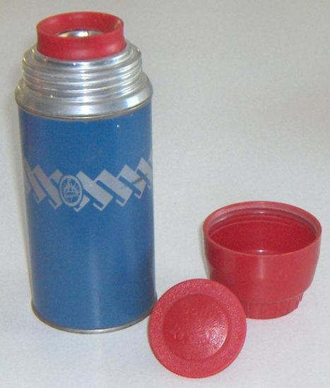 Vintage Blue Thermos by KEAPSIT - 7 1/2""