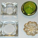 Vintage Glass Ashtray - Set of 4