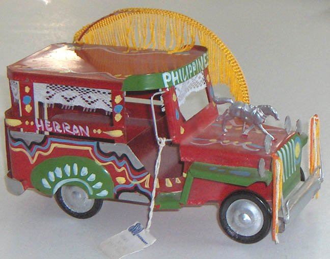 Vintage Tin Toy Jeepy - Lavishly decorated - Philippines
