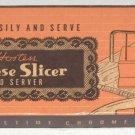 Vintage Hostess Cheese Slicer and Server - Bakelite