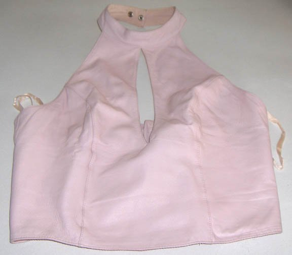 Wilson's Pelle Studio Pink Leather Halter Top Size M