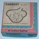 Vintage Eggbert by LAF Cocktail Napkins - Box of 25 circa 1959