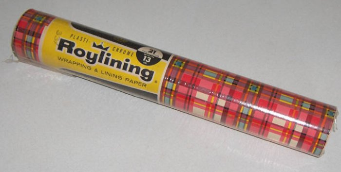 Vintage Roylining Plasti-Chrome Wrapping and Lining Paper