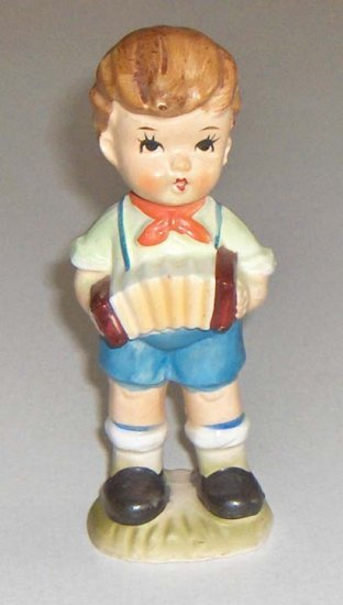 Vintage Hummel Style Bisque Boy with Accordian MIJ