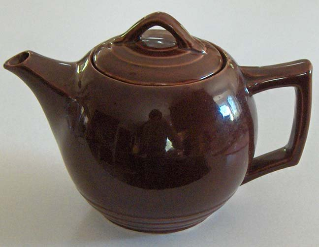 McCoy Brown Teapot circa 1940s - Style #140